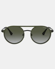 Emporio Armani 0EA2080 Sunglasses Matte Green/Matte Black