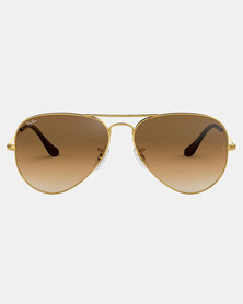 Ray-Ban Aviator Gradient Sunglasses Gold