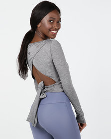 MOVEPRETTY Serenity Crop Grey