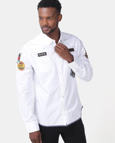 Soviet Valero Long Sleeved Shirt White