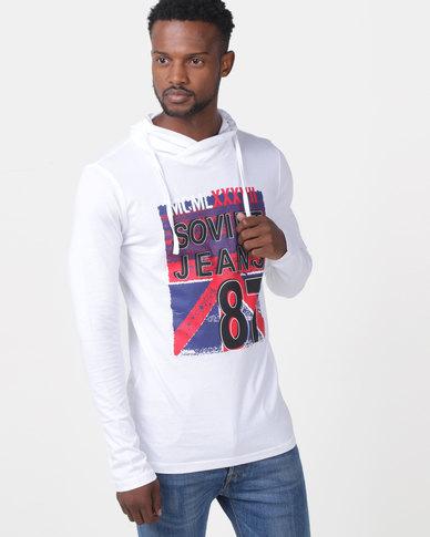 Soviet Heaton Long Sleeved Sweater White