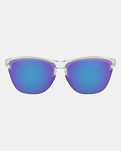 bd208aa9d962 Oakley Frogskins Lite Sunglasses Violet Iridium Matte Clear | Zando