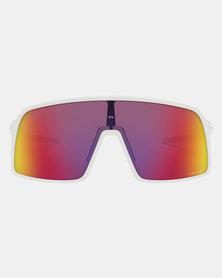 Oakley Sutro Sunglasses Prizm Road Matte White