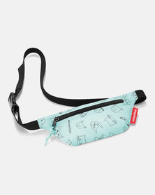 Reisenthel water-repellent premium-quality polyester beltbag cats and dogs mint travel bag