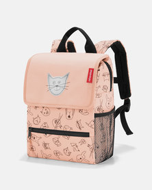 Reisenthel water-repellent premium-quality polyester backpack kids cats and dogs rose travel bag