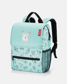 Reisenthel water-repellent premium-quality polyester backpack kids cats and dogs mint travel bag