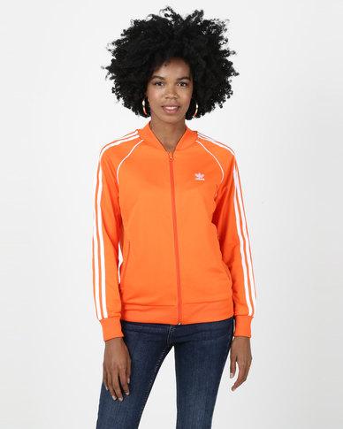 adidas Originals Ladies SST Track Top Orange