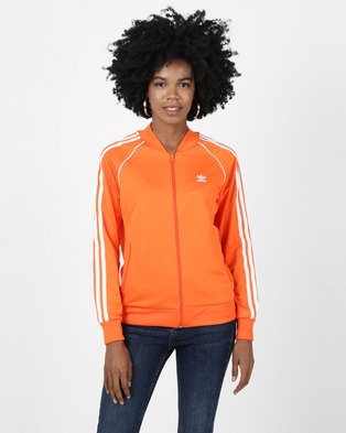 adidas Originals Ladies SST Track Top Orange