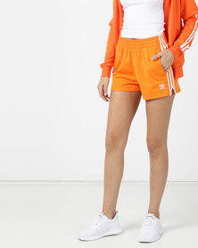 adidas Originals 3 Stripes Shorts Orange