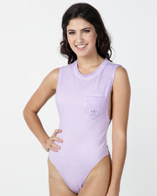 adidas Originals Bodysuit Purple