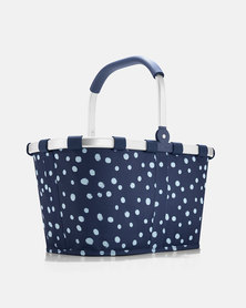 Reisenthel water-repellent premium-quality polyester carrybag spots navy picnic bag