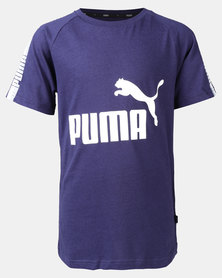 Puma Sportstyle Core Boys Tape Tee B Peacoat Tee Blue