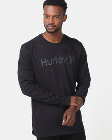 Hurley One and Only Push Through Long Sleeve T-shirt Black