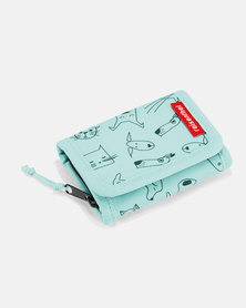 Reisenthel premium-quality, tear-proof polyester, water-repellent wallet S kids cats and dogs mint