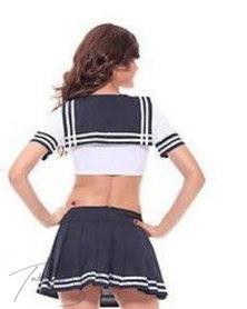 Talullah Suede Sweet Cheerleader Matching Set, Cotton Black