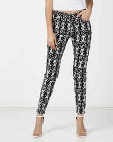 G Couture Black/White Printed Pants