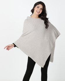 G Couture Taupe Poncho