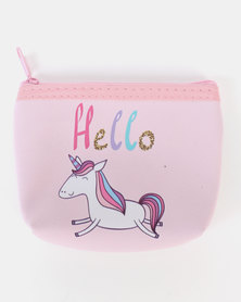 Jewels and Lace Unicorn Money Bag Pink