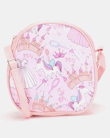 Jewels and Lace Unicorn Backpack Pink