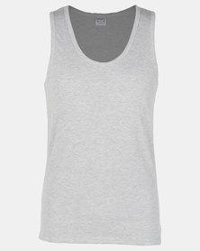 Jockey 3 Pack Eyelet Vest Black/Grey Melange/White