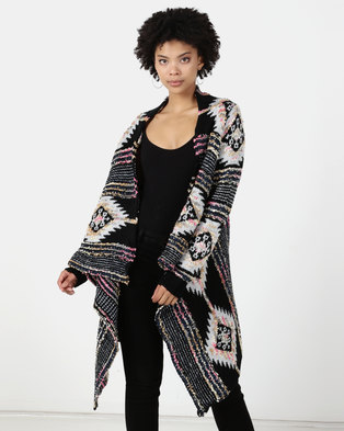 Revenge Printed Waterfall Cardigan Multi