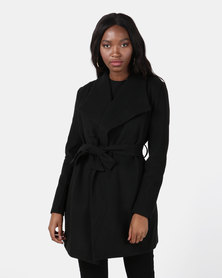 Revenge Shawl Coat Black