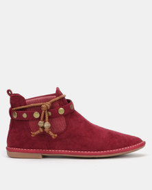 Butterfly Feet Chesta Boots Burgundy