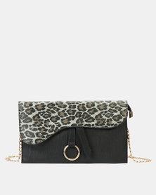 f8c58987e Blackcherry Bag Saddle Crossbody Bag Leopard Black