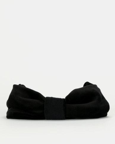 Queenspark Velvet Bow Hat Black