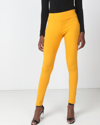 Queenspark Mustard Knitted Long Legging