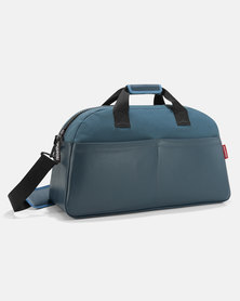 Reisenthel high-quality, coated canvas material overnighter canvas blue