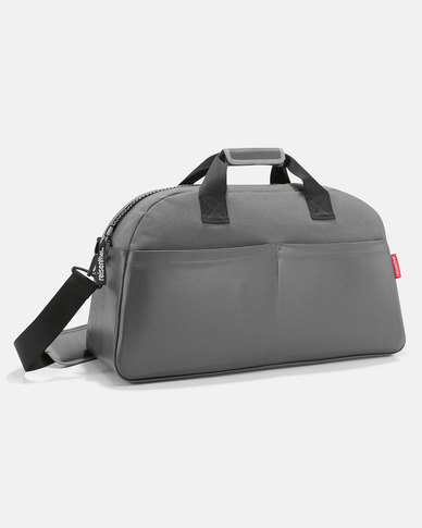 Reisenthel high-quality, coated canvas material overnighter canvas grey