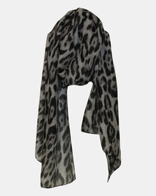 Razberry Black/Grey Animal Print Scarf
