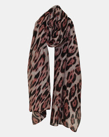 Razberry Pink/Black Animal Print Scarf