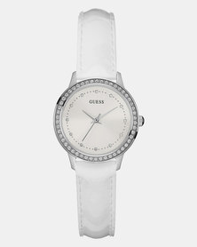 Guess Chelsea Patent Strap Watch White