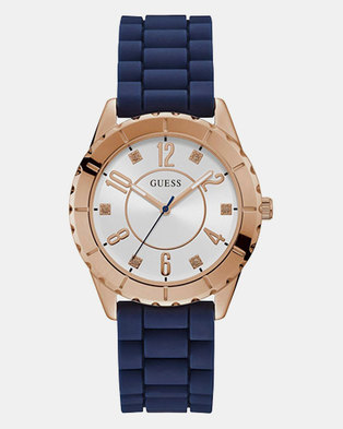 Guess Cabana Silicon Strap Watch Blue