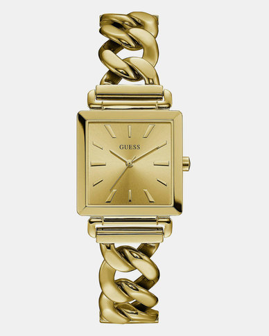 Guess Vanity Gold Chain Bracelet Watch