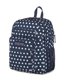 JanSport Big Student Backpack Dark Denim Polka Dot