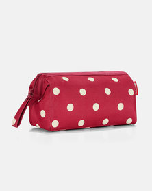 Reisenthel high-quality polyester fabric, water-repellent travelcosmetic ruby dots