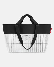 Reisenthel high-quality, laminated polypropylene and high-quality polyester #urban bag new york black and white
