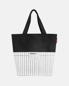 Reisenthel high-quality, laminated polypropylene and high-quality polyester #urban bag paris black and white