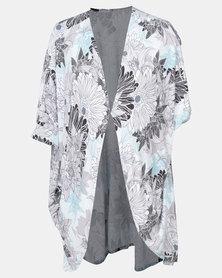 Foxy Mama Kimono Black & Mint
