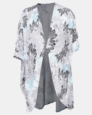 31edf06d03ed Foxy Mama mint, white and black kimono