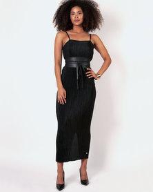 Marique Yssel Strappy Shift Dress & Polo Top 2 Piece - Black & White