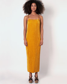 Marique Yssel Strappy Shift Dress & Polo Top 2 Piece - Dijon & Black