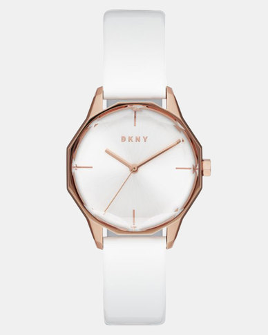 DKNY Round Cityspire Watch White