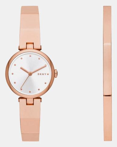 DKNY Eastside Watch Set Rose Gold-plated