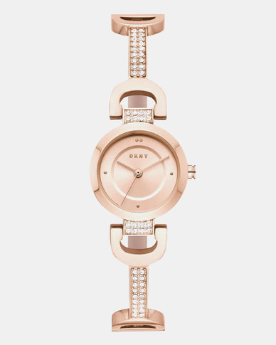 DKNY City Link Watch Rose Gold-plated