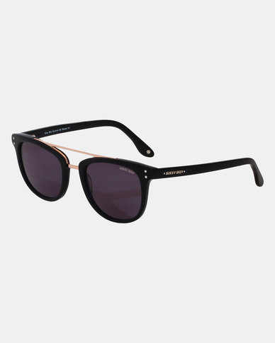 Sissy Boy Oval Frame Sunglasses Black