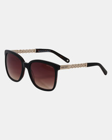Sissy Boy Square Frame Sunglasses  Black & Brown